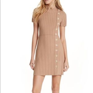 Free People Mock Neck Mini Sweater Dress